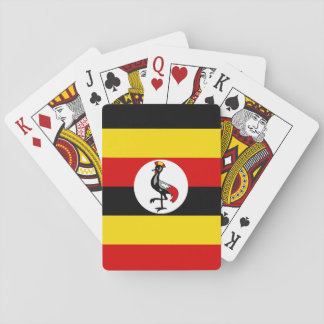 Uganda National World Flag Playing Cards