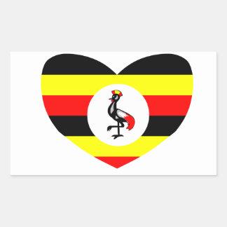 Uganda Rectangular Pegatina