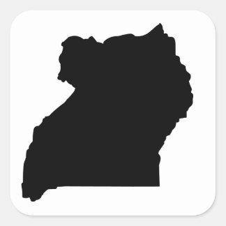 Uganda Calcomania Cuadradas