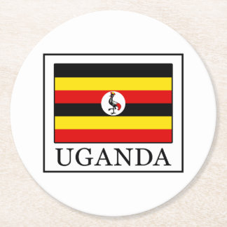 Uganda Round Paper Coaster