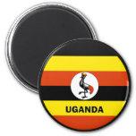 Uganda Roundel quality Flag 2 Inch Round Magnet