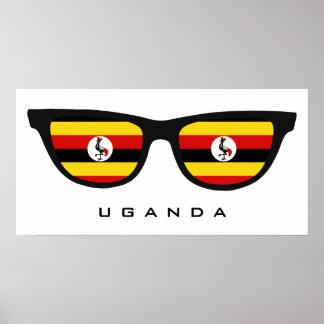 Uganda Shades custom text & color poster