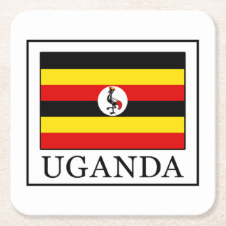 Uganda Square Paper Coaster