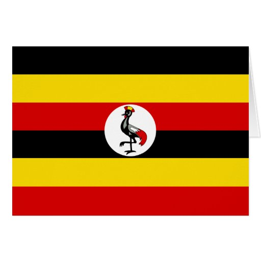 Uganda – Ugandan Flag Greeting Cards