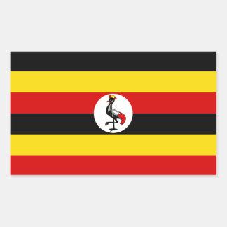 Uganda/Ugandan Flag Rectangular Sticker