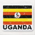 Uganda Vintage Flag Mousepads