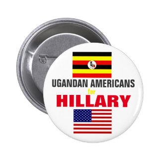 Ugandan Americans for Hillary 2016 Pinback Button