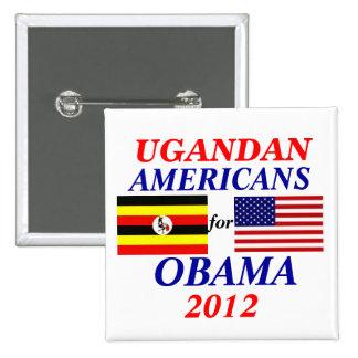 Ugandan americans for Obama Pinback Button