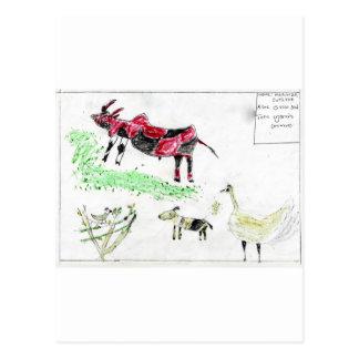 Ugandan Animals Postcard
