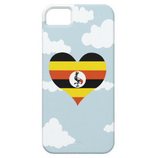 Ugandan Flag on a cloudy background iPhone 5 Covers