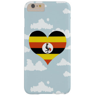 Ugandan Flag on a cloudy background Barely There iPhone 6 Plus Case
