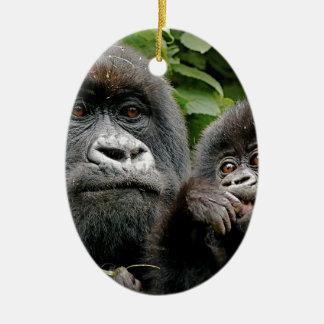 Ugandan Gorillas Ceramic Ornament