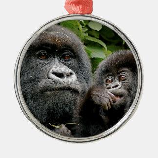 Ugandan Gorillas Metal Ornament