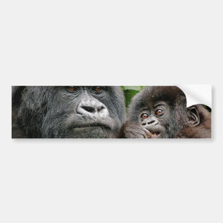 Ugandan Mother and Baby Gorilla Bumper Sticker