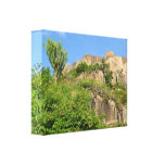 Ugandan rock valley canvas stretched canvas print