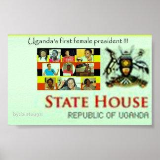 Uganda's first female president poster