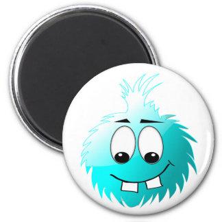 Uggles - Boomer White 2 Inch Round Magnet