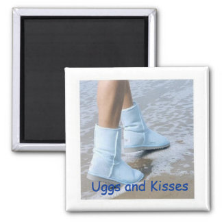 Uggs and Kisses Magnet