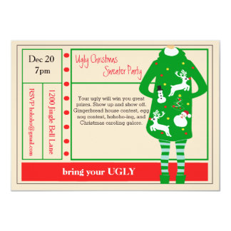 Ugliest Christmas Ever Sweater Party Invitation