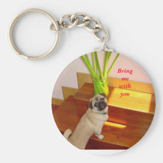 ugly 2 may 001, Bring me with you Basic Round Button Keychain