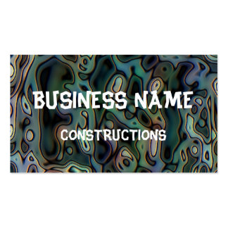 Ugly abstract pattern business card