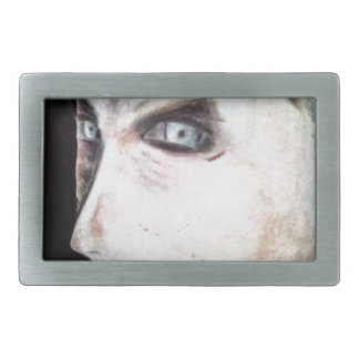 UGLY Angry Woman Rectangular Belt Buckle