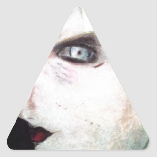 UGLY Angry Woman Triangle Sticker