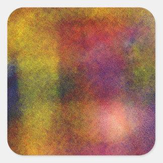 Ugly awful pattern square sticker