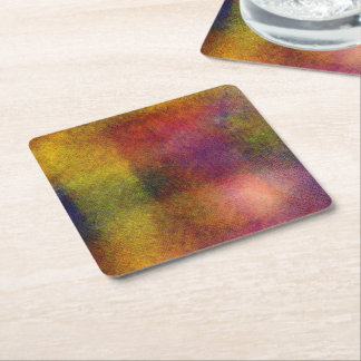 Ugly awful pattern square paper coaster
