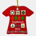 Ugly, But Cute, Christmas Sweater Shirt Ornament