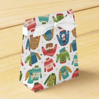 Ugly But Cute Ugly Christmas Sweaters Holiday Favor Box