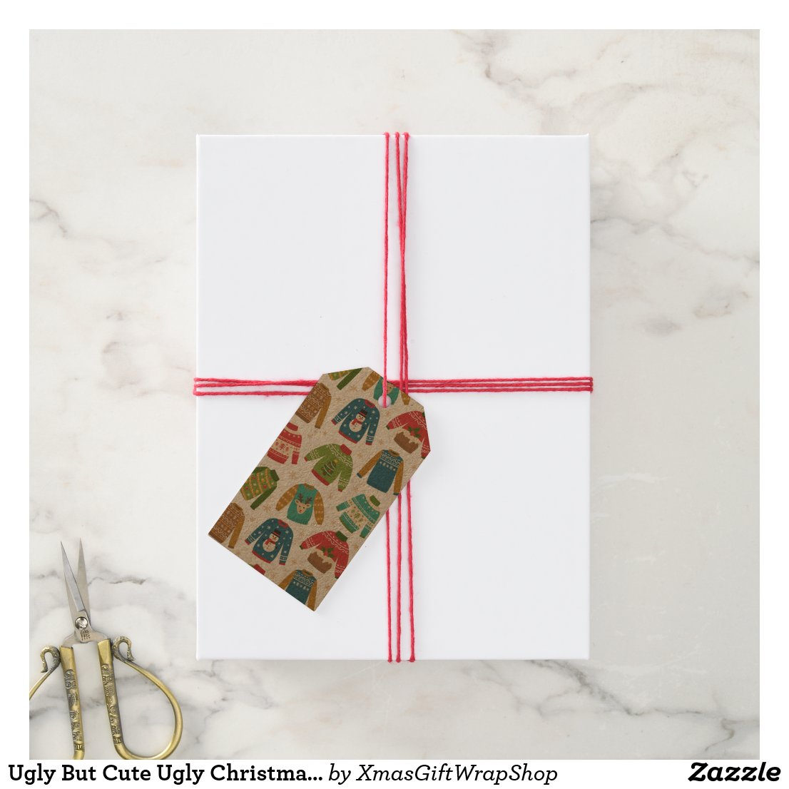 Ugly But Cute Ugly Christmas Sweaters Holiday Gift Tags