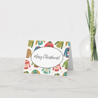 Ugly But Cute Ugly Christmas Sweaters Holiday Note Card
