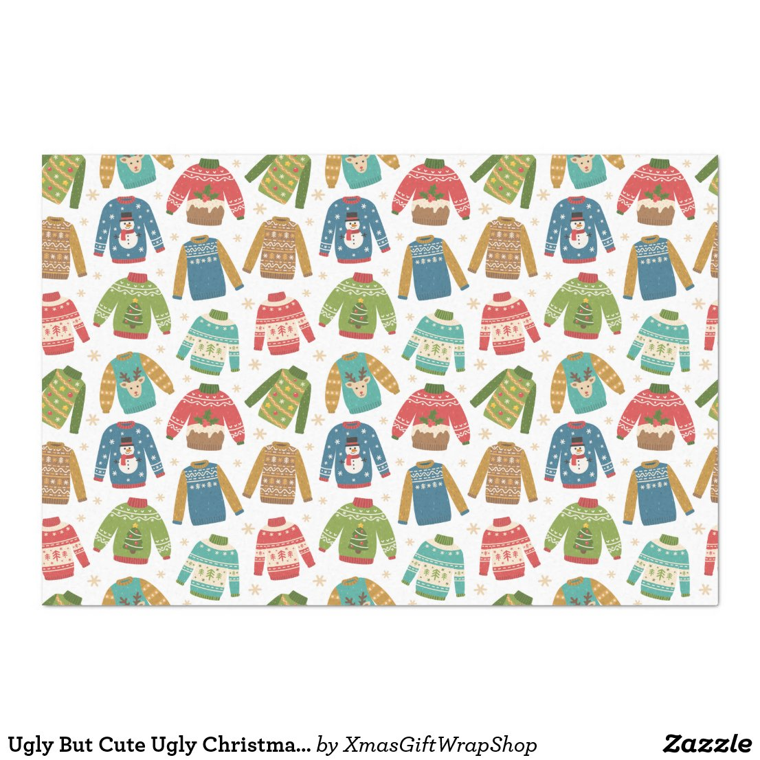 Ugly But Cute Ugly Christmas Sweaters Holiday Tissue Paper