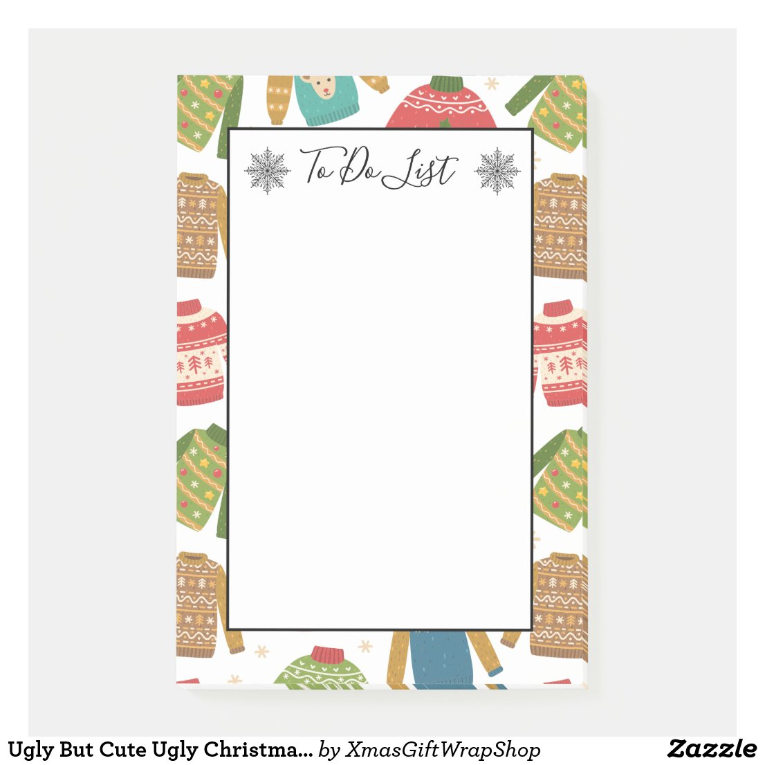 Ugly But Cute Ugly Christmas Sweaters To Do List Post-it Notes