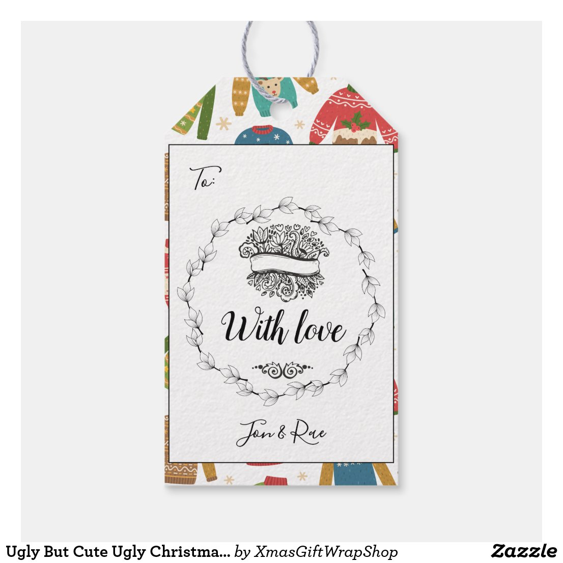 Ugly But Cute Ugly Christmas Sweaters With Love Gift Tags