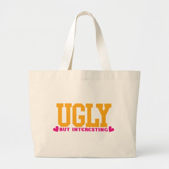 Ugly but interesting large tote bag