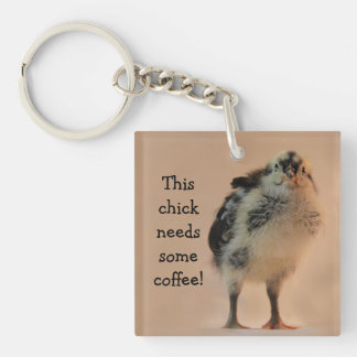 Ugly Chick Double-Sided Square Acrylic Keychain