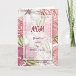 Funny Floral Ugly Children Mother's Day Card
