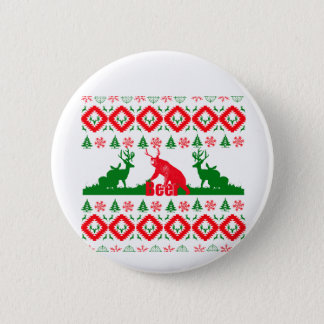 Ugly Christmas beer Button