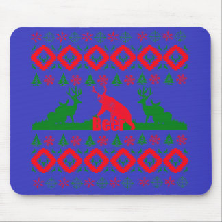 Ugly Christmas beer Mouse Pad