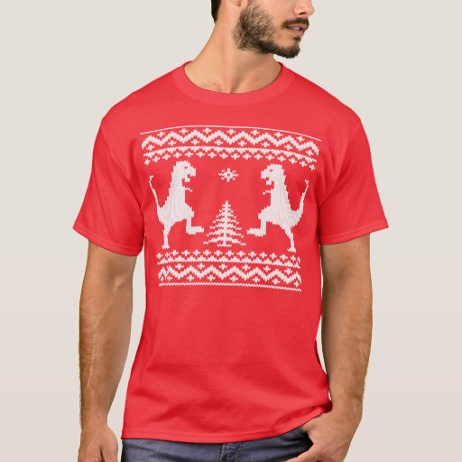 Ugly Christmas Dinosaurs T-Shirt