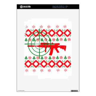 Ugly Christmas gun Decal For The iPad 2