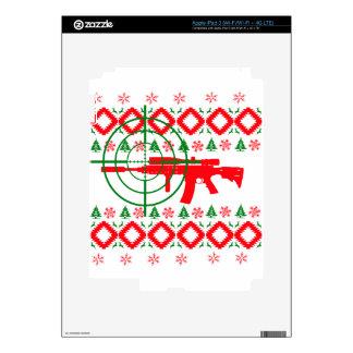 Ugly Christmas gun iPad 3 Decal