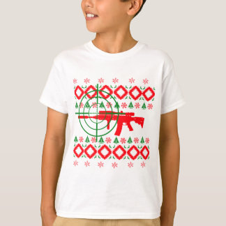 Ugly Christmas gun T-Shirt