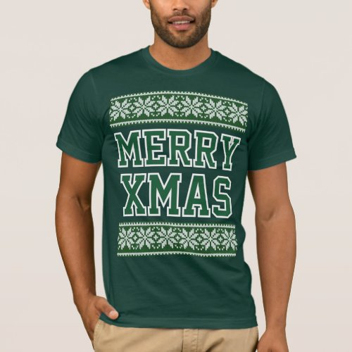 Ugly Christmas Shirts For Men Green Merry Xmas After Christmas Sales 2729
