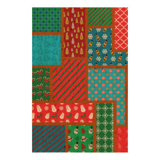Ugly christmas square pattern cork paper prints