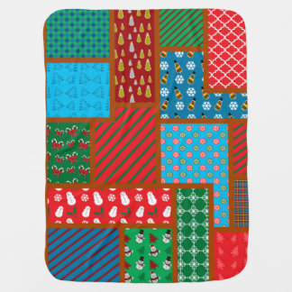 Ugly christmas square pattern swaddle blanket