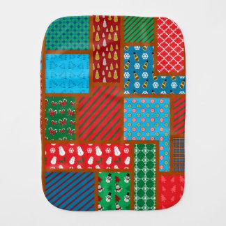 Ugly christmas square pattern burp cloth