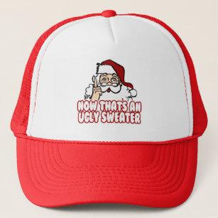 ugly christmas swear santa claus trucker hat - Ugly Christmas Hats